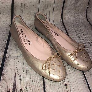 Paul Mayer Attitudes Gold Studded Toes Ballet Flat